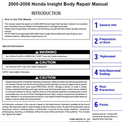 2000-2006 HONDA Insight