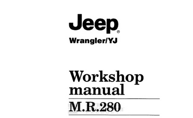 1987 JEEP Wrangler YJ Service Manual