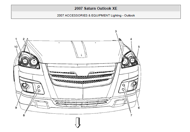 2008 CHEVROLET Traverse GMC Acadia BUICK Enclave SATURN Outlook